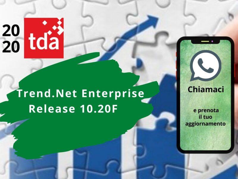 Nuova Release Trend .NET Enterprise 10.20F