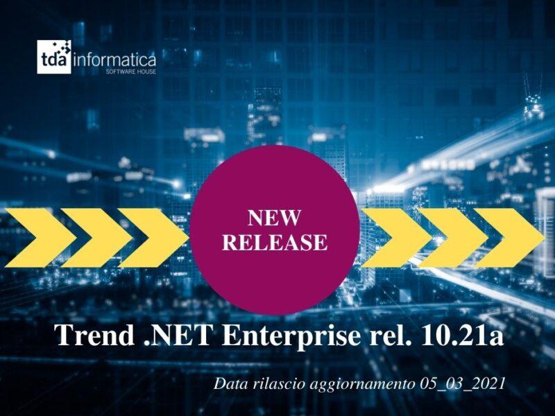 Nuova Release Trend .NET Enterprise 10.21a