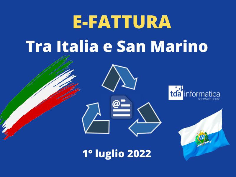 E – FATTURE                                                                 Italia – San Marino